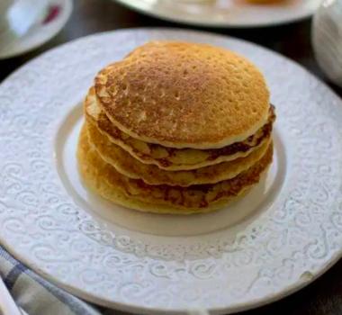 vegan almond orange pancakes