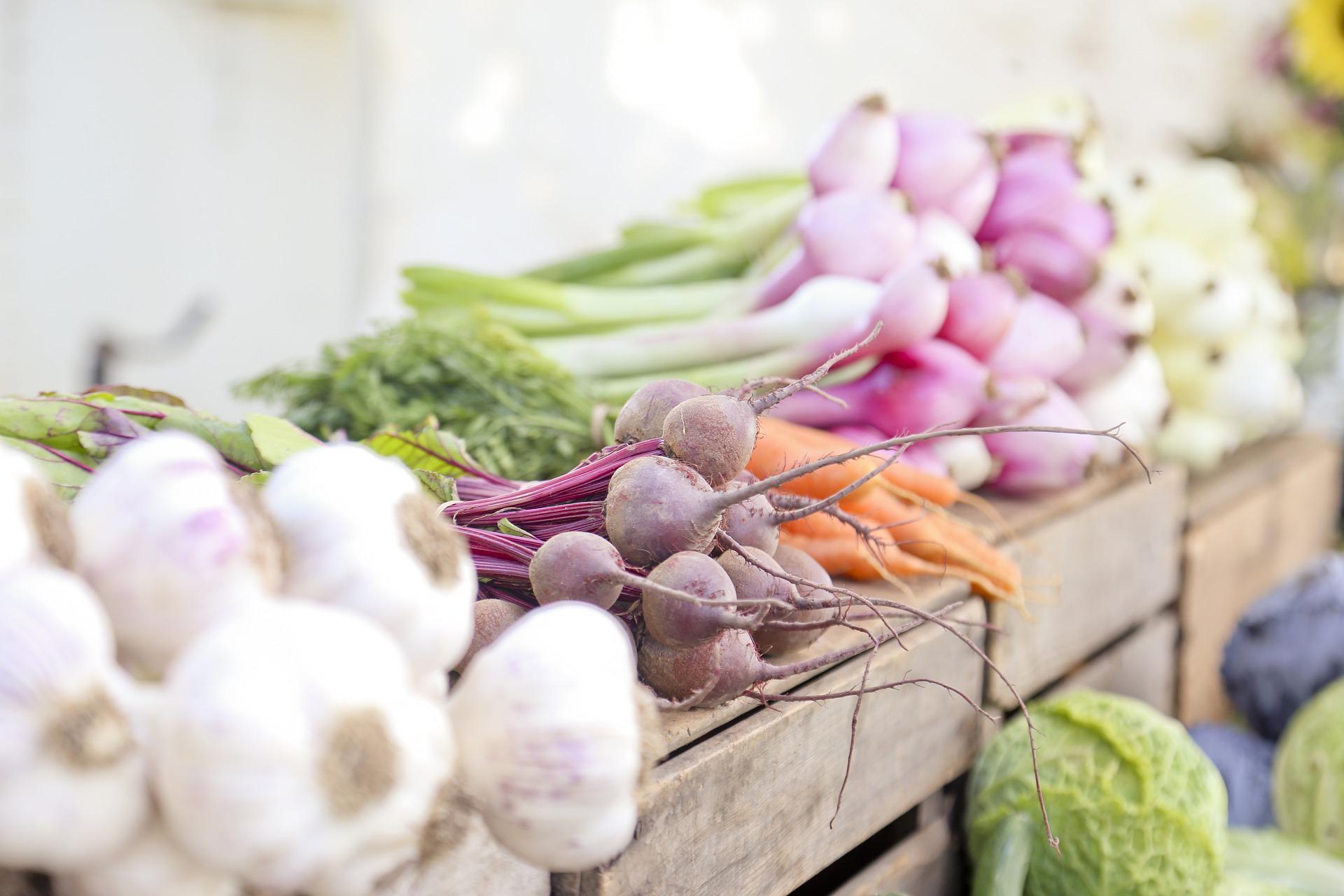 fresh produce at CSA