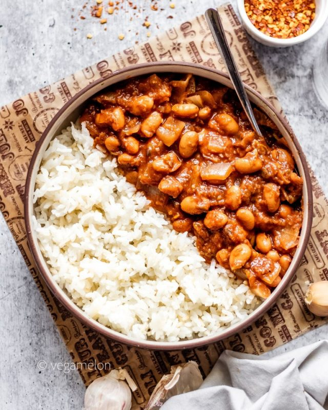 Vegan Spicy 'Baked' Beans