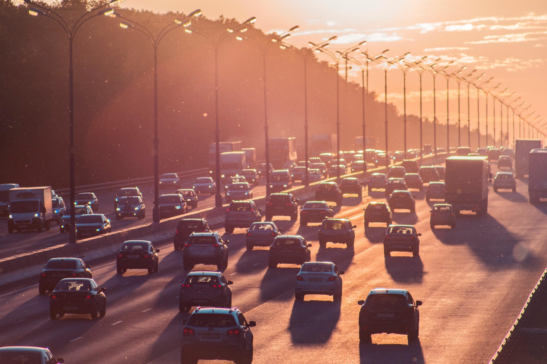 Highway Stretch of Car Traffic