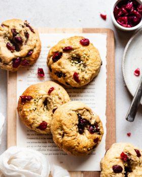 Seeded Cranberry Bagels [Vegan]