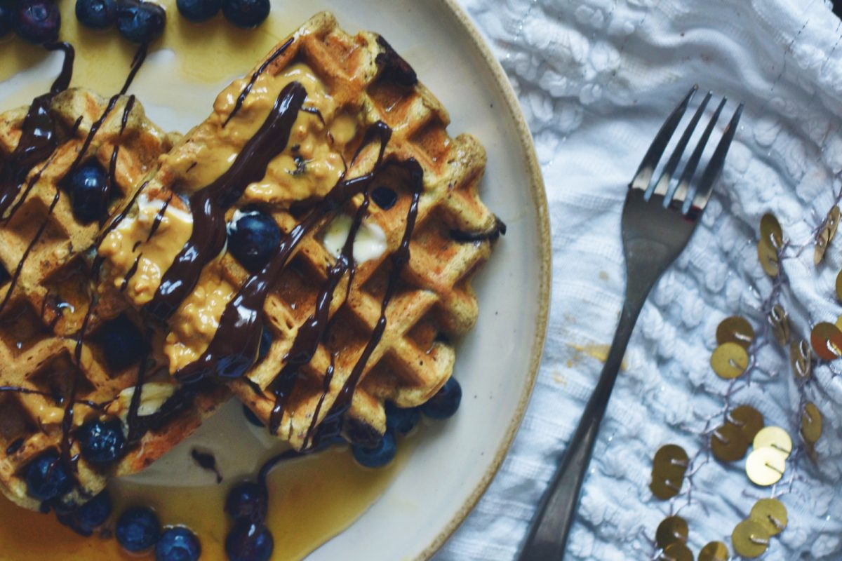 Vegan Chocolate Hazelnut Waffles