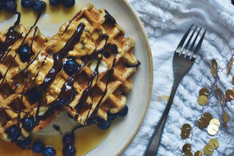 chocolate hazelnut waffle