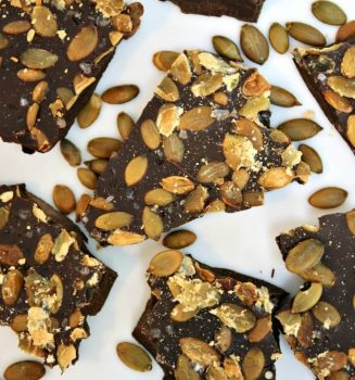vegan Chocolate Pumpkin Seed Bark