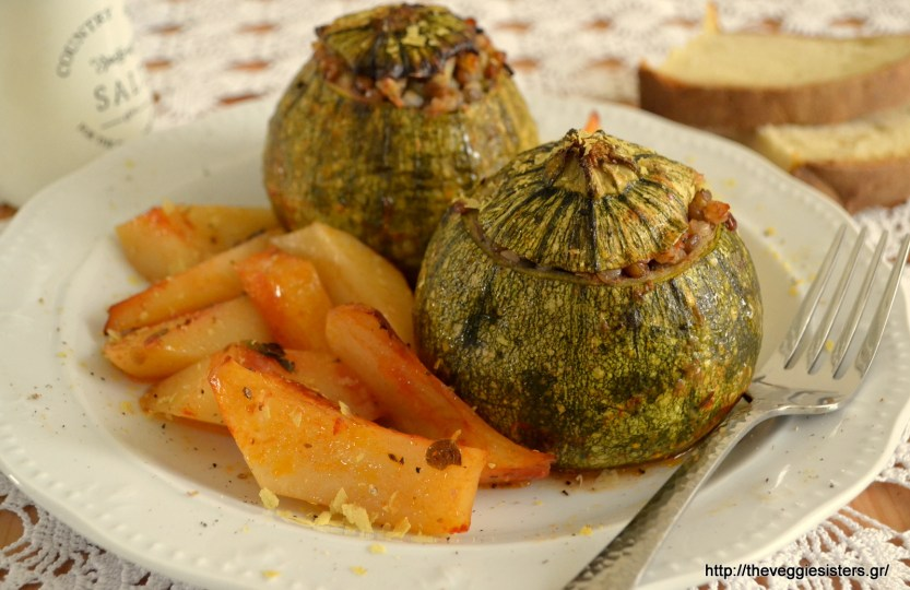 Round Zucchini Stuffed With Buckwheat and Lentils