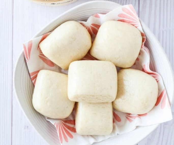 Vegan Chinese Steamed Buns (Mantou)