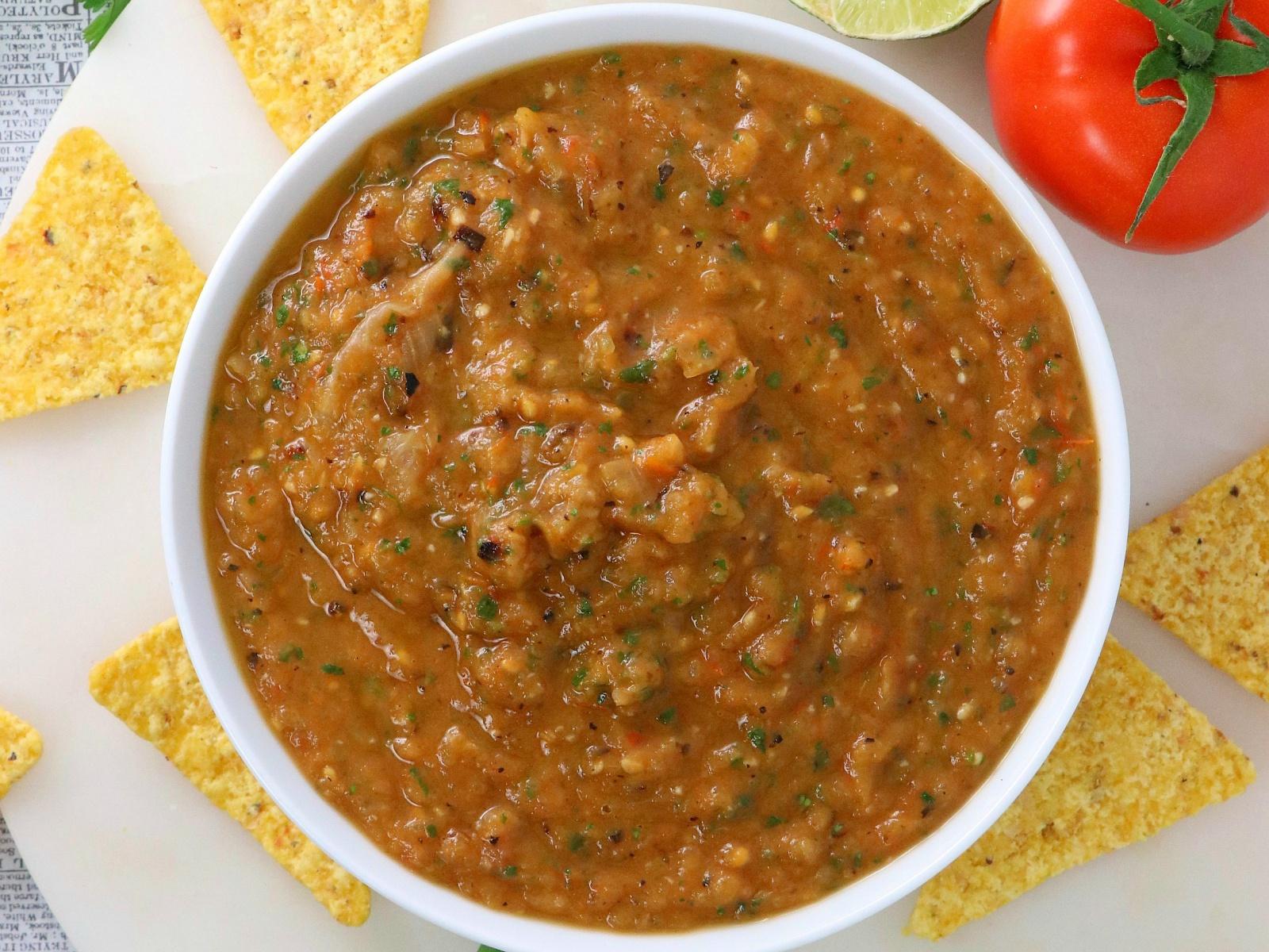 vegan oven-roasted salsa