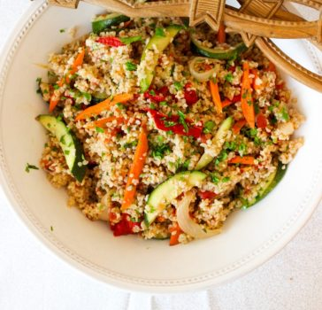 vegan Mixed Roasted Vegetable Bulgur