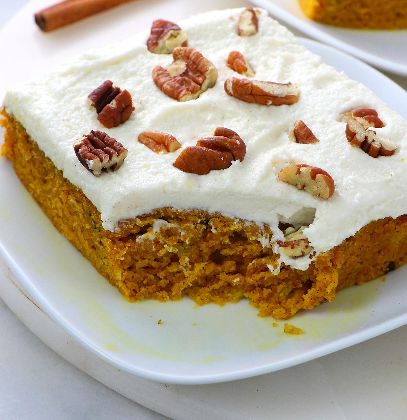 vegan Pumpkin Sheet Cake