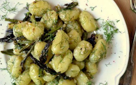 lemon asparagus gnocchi
