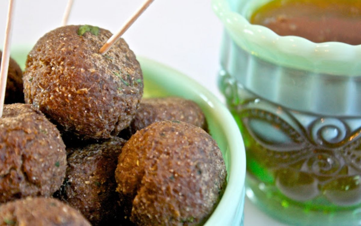 Vegan Swedish Meatballs + Apricot Dipping Sauce