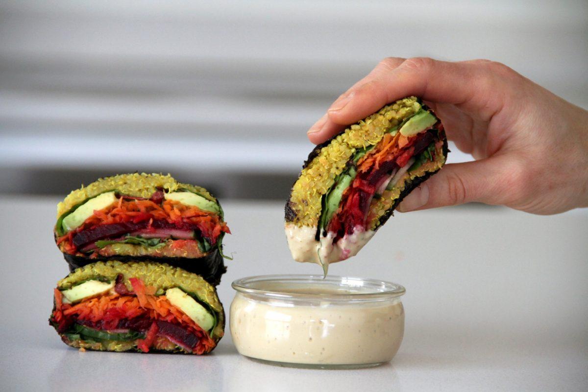 Vegan Onigirazu Quinoa Sushi Sandwich