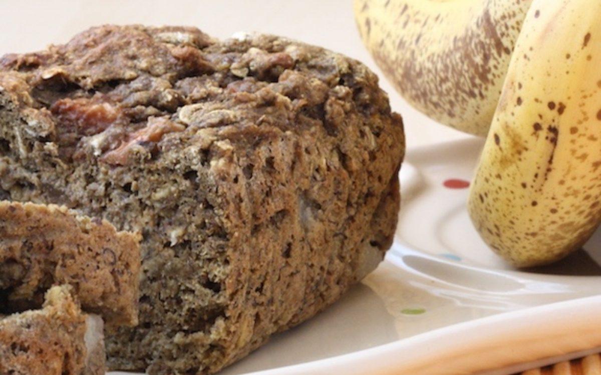 Vegan Pear Oatmeal Banana Bread