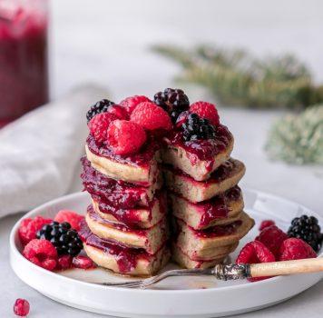 Vegan Quinoa Plantain Pancakes