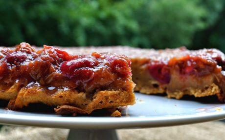 rhubarb cherry cake