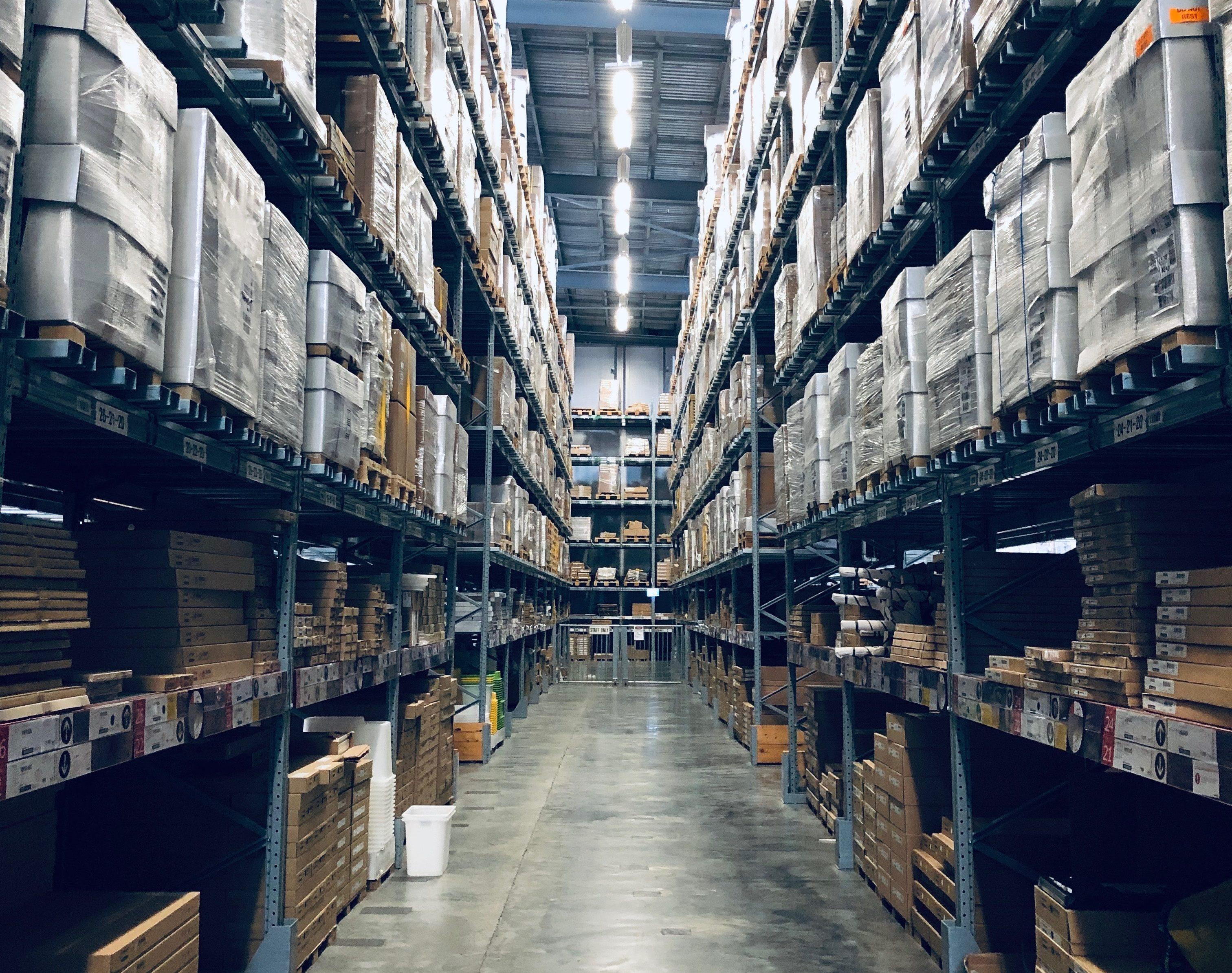 Warehouse full of boxes