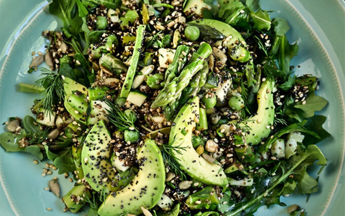 Vegan Seeds and Greens Kaniwa Salad