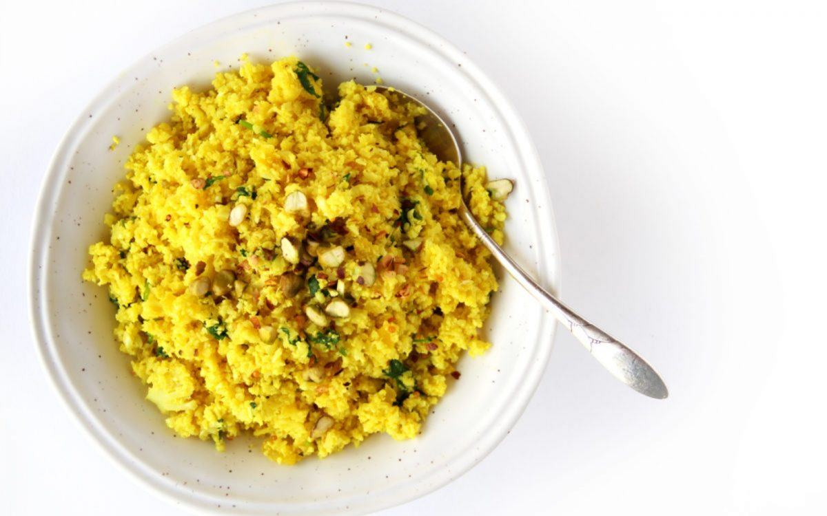 Vegan Indian Cauliflower Rice