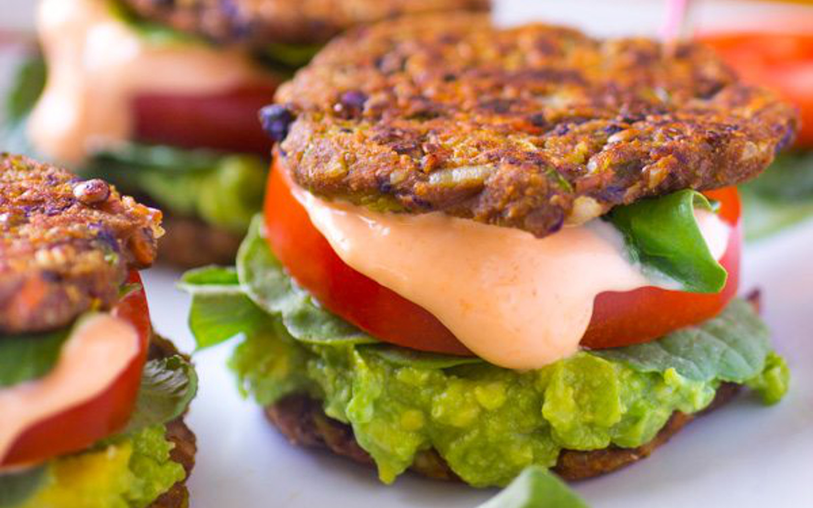 Vegan burgers with carrots and pinto beans