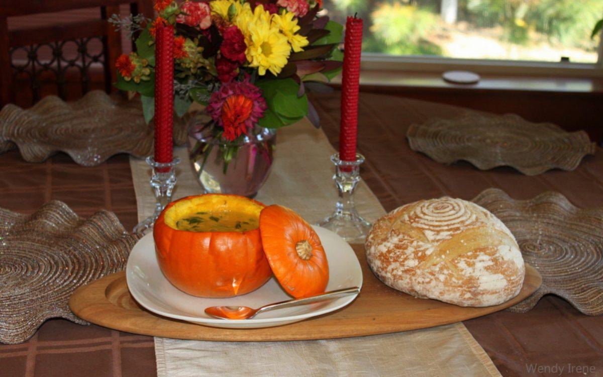 Creamy Pumpkin Spinach Soup