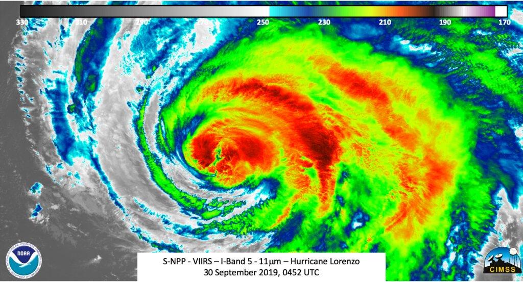 NOAA Satellite Image of Hurricane Lorenzo