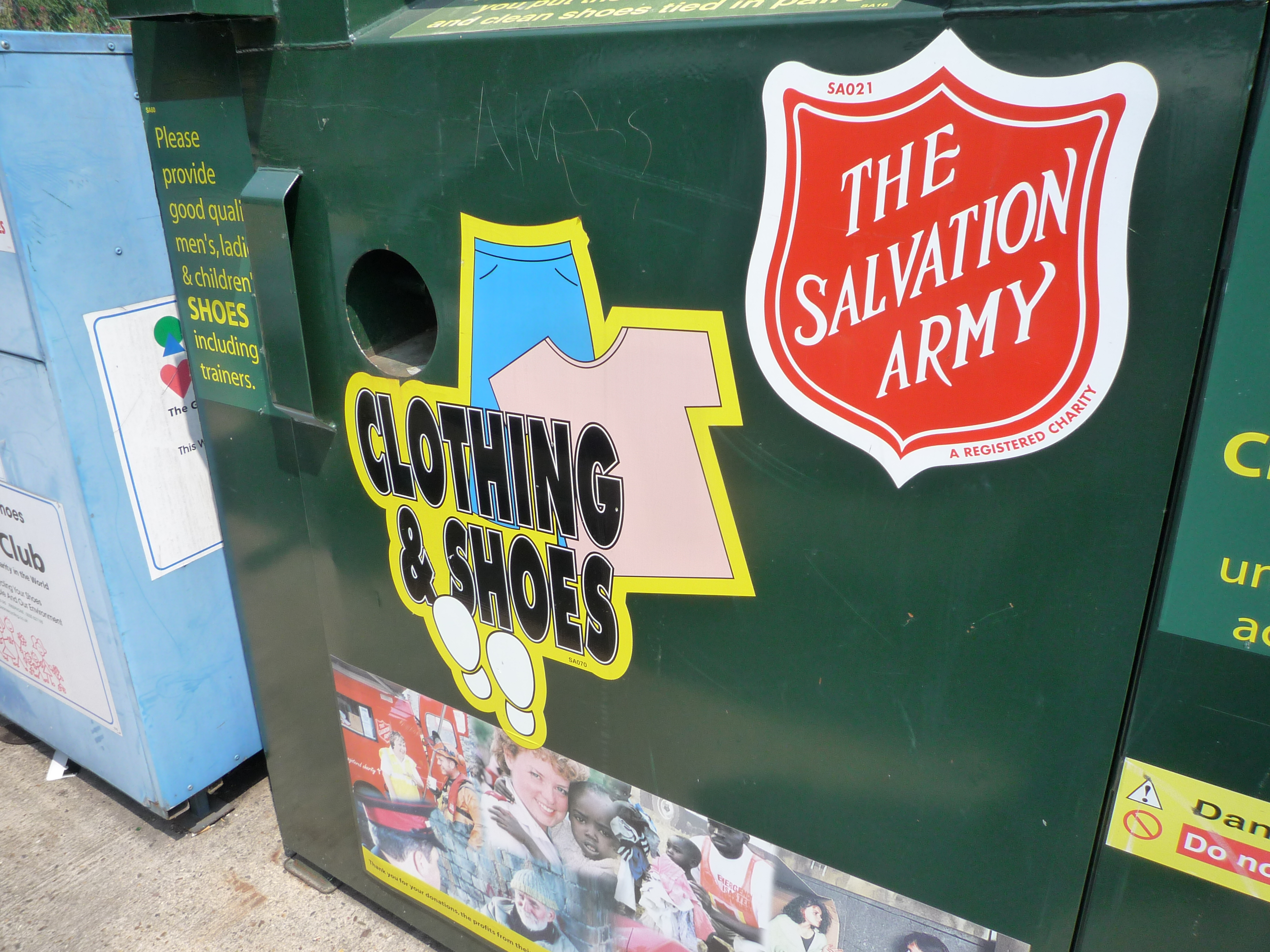 Salvation Army clothing & shoes donation box