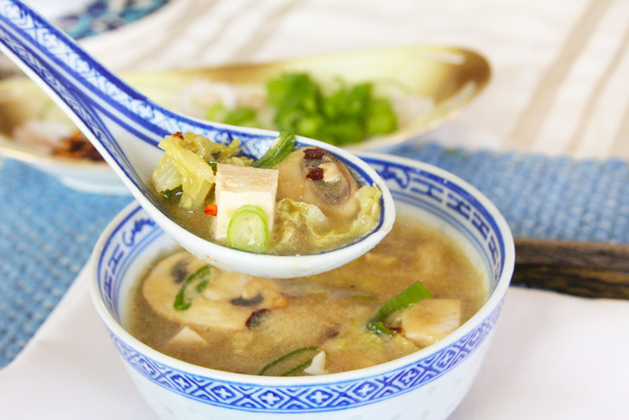 Vegan Plant Based Hot and Sour Soup