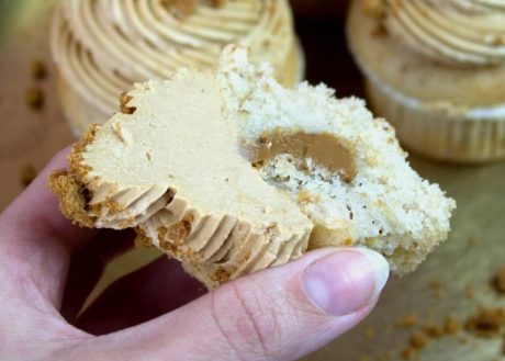 Vegan Almond Caramel Cupcakes