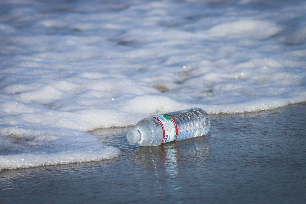 Bottle of Water in Ocean