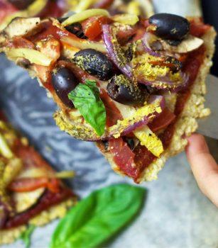 Vegan Brown Rice Pizza Crust