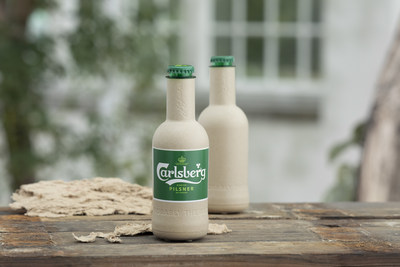 Carlsberg paper bottle