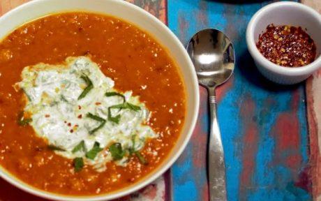 red lentil chickpea soup