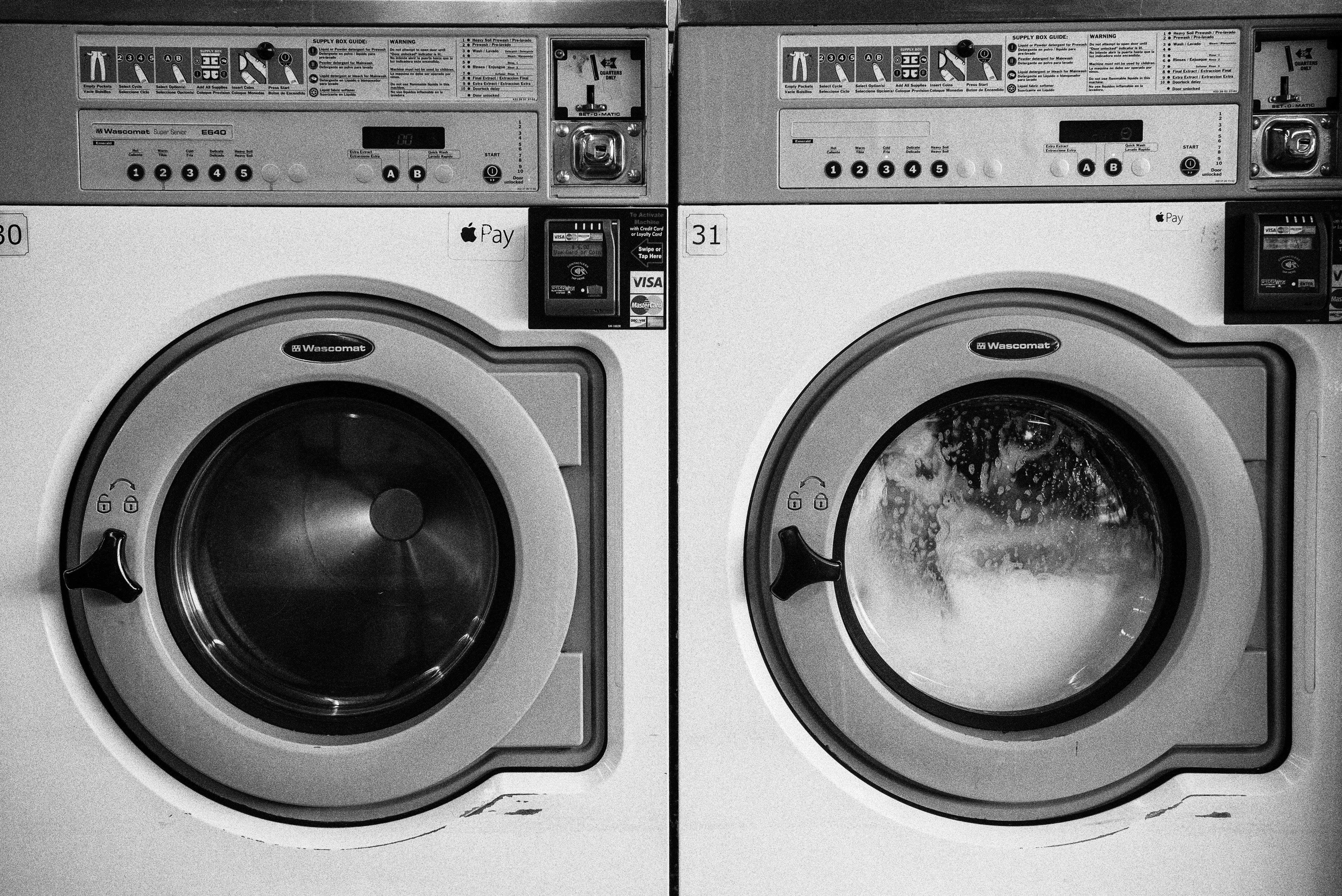 Washing Machines in Black and White