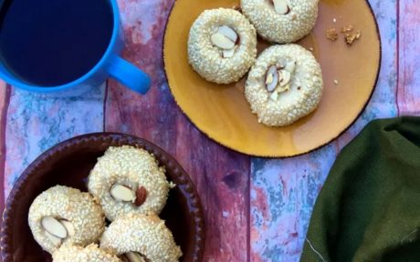 VEGAN Nankhatai coconut sesame cookies