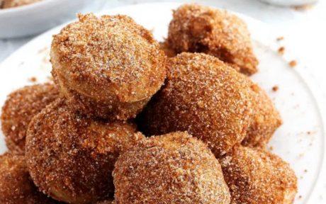 vegan Cinnamon Sugar Donut Holes