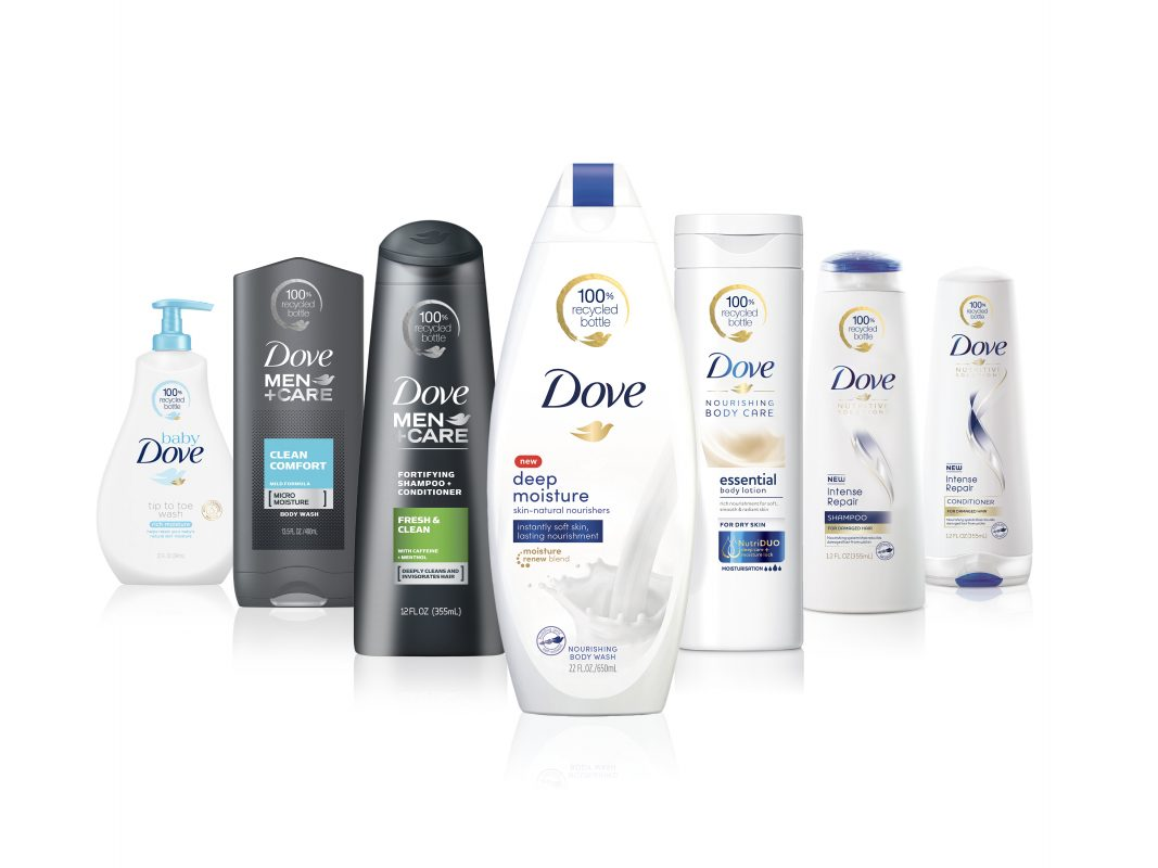 Dove Moves to 100 percent Recycled Plastic Reducing 20K Tons of Waste