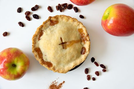 vegan easy mini apple pie