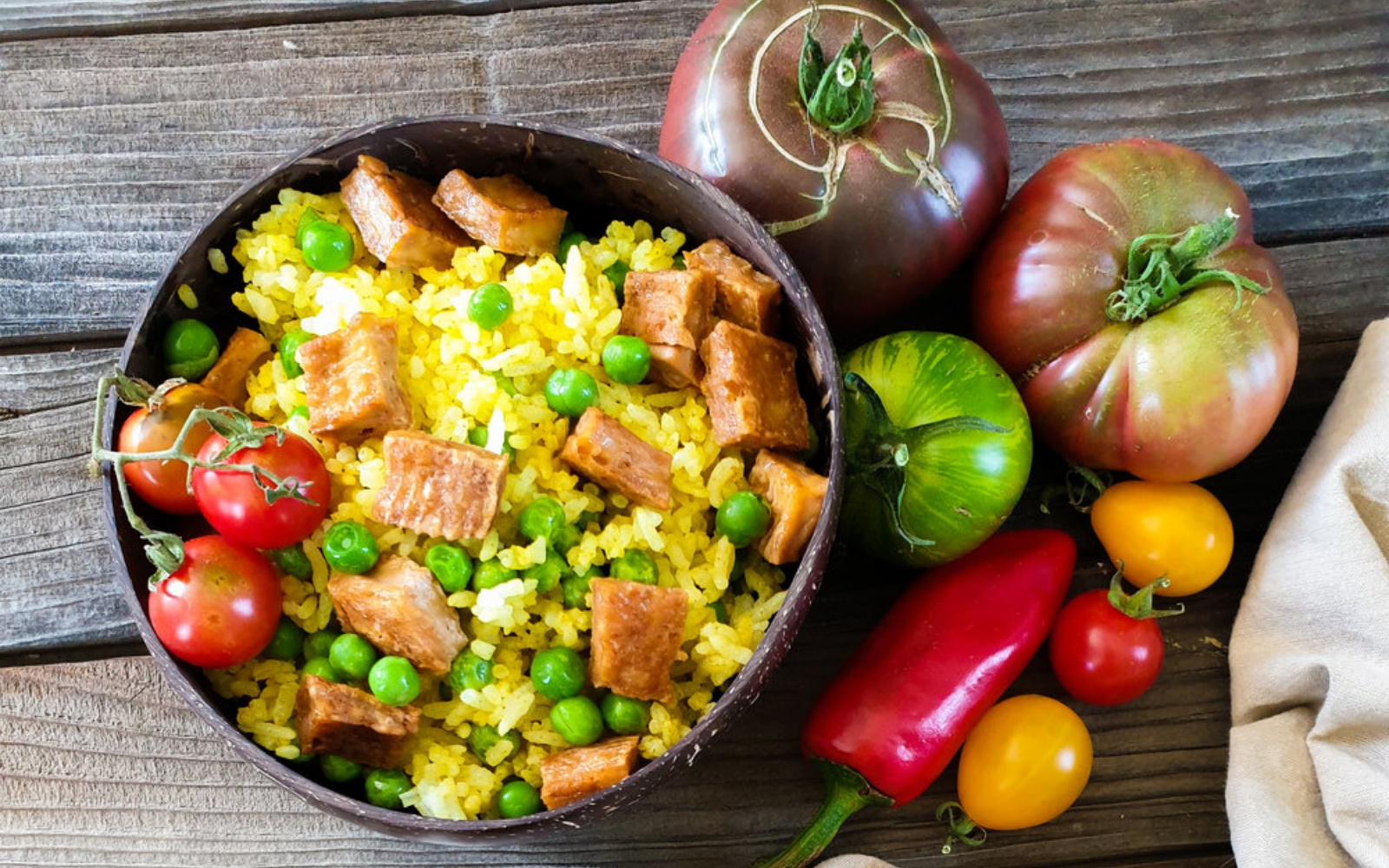 vegan tofu fried rice