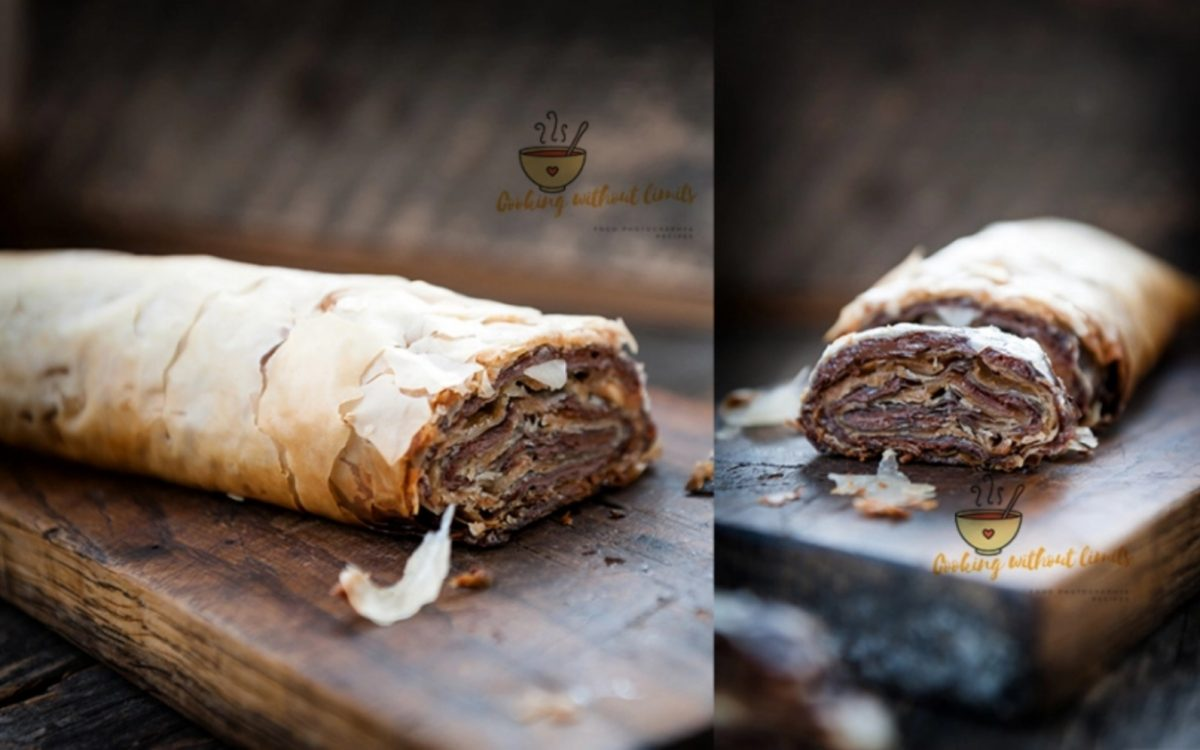 chocolate peanut butter baklava