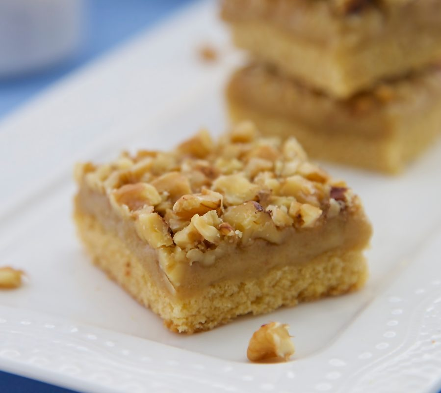 Ginger Walnut Slice