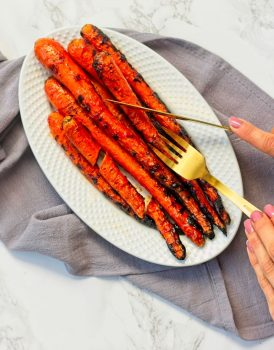 Vegan & Gluten Free Sweet Sriracha Glazed Carrots