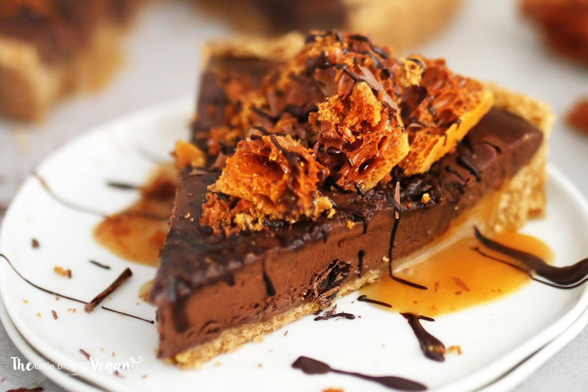 No-Bake Chocolate Honeycomb Tarts