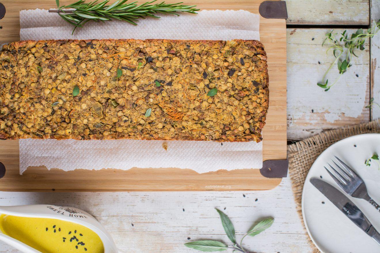 Simple vegan lentil loaf