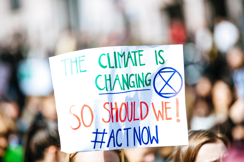 Climate Change Activist Sign