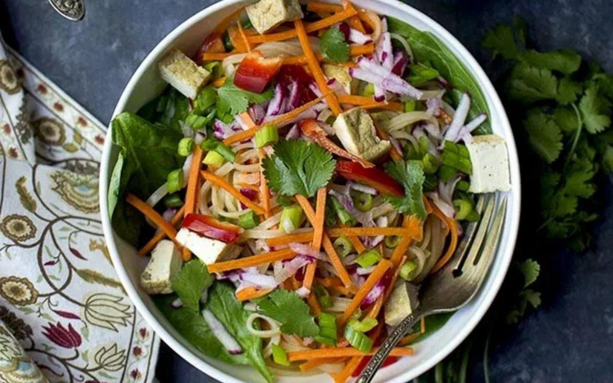 Vegan Pad Thai Noodle Salad