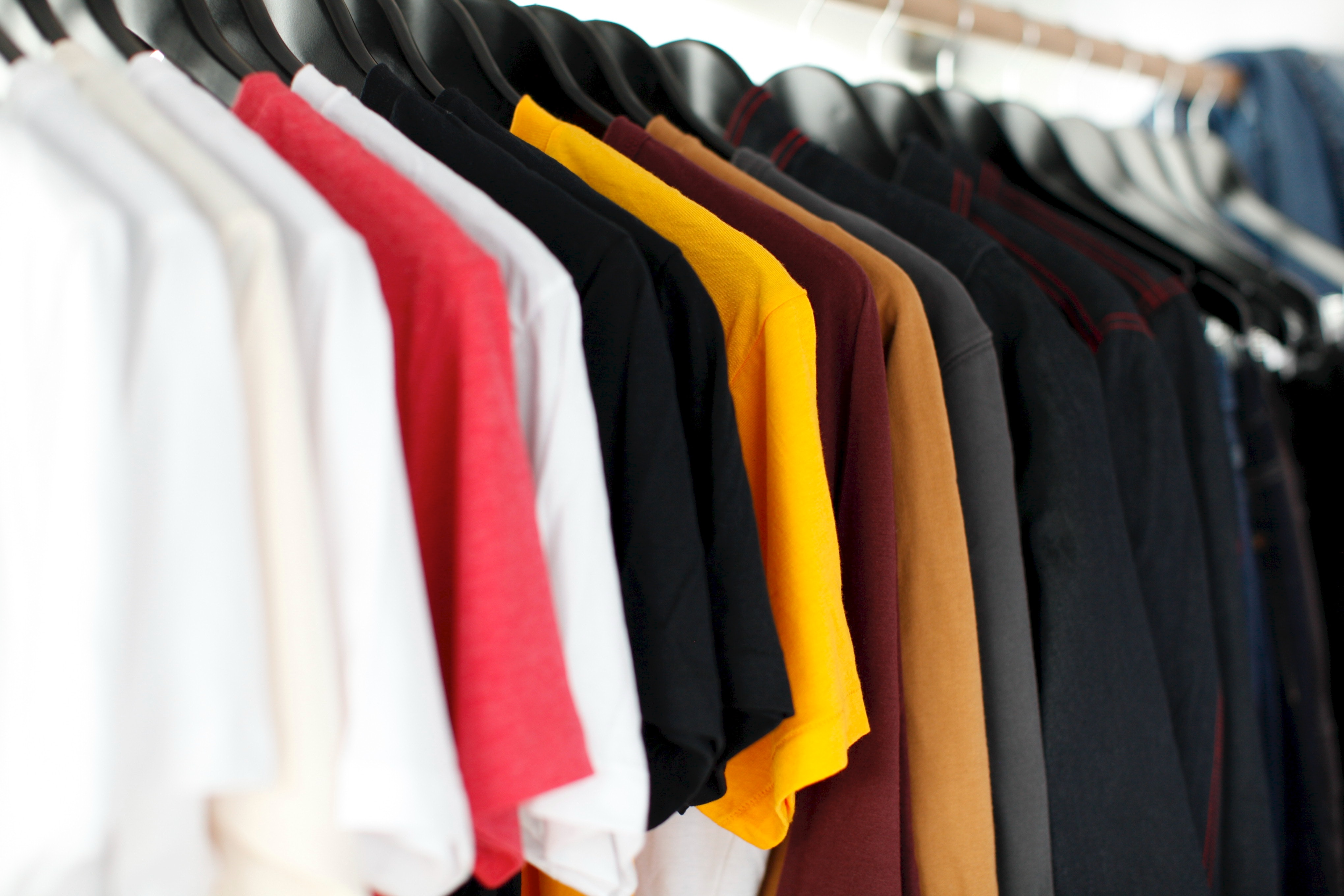 Rack of T shirts