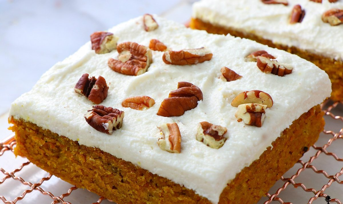 Vegan Pumpkin Sheet Cake
