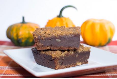 Vegan Streusel Topped Pumpkin Brownie