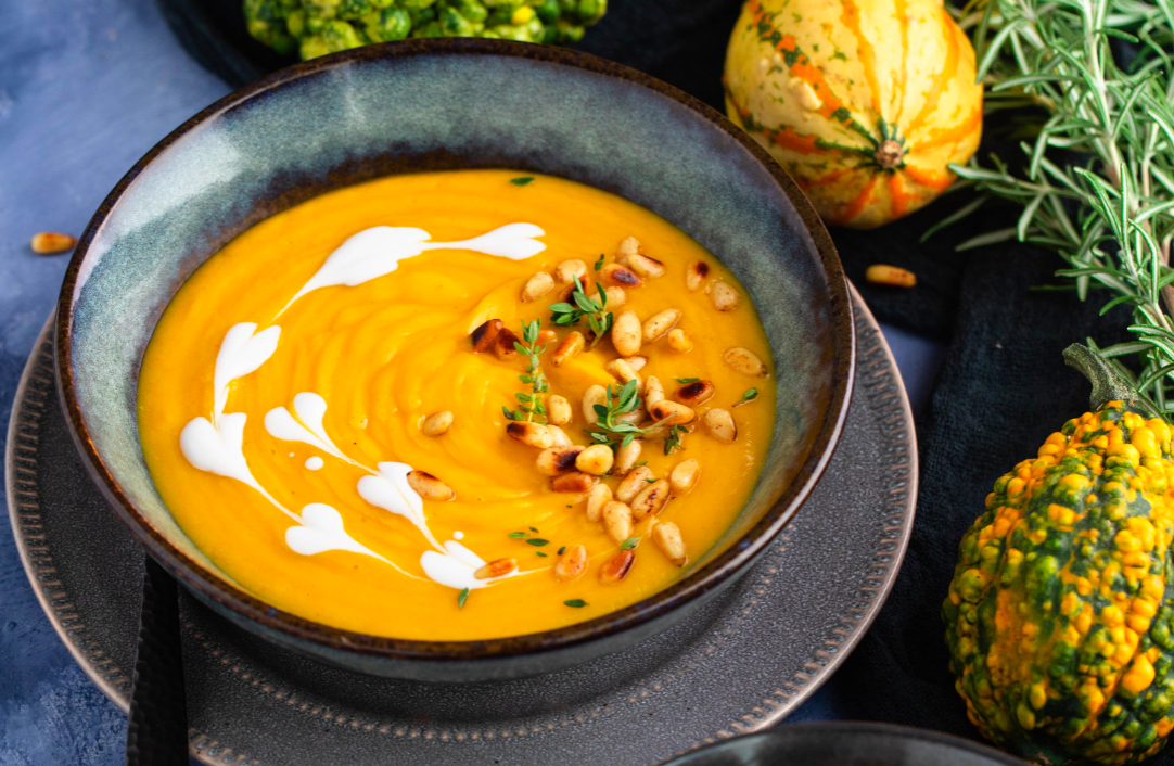 Vegan Lemon Thyme Roasted Butternut Squash Soup