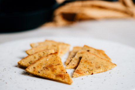 Vegan Tuscan chickpea flatbread